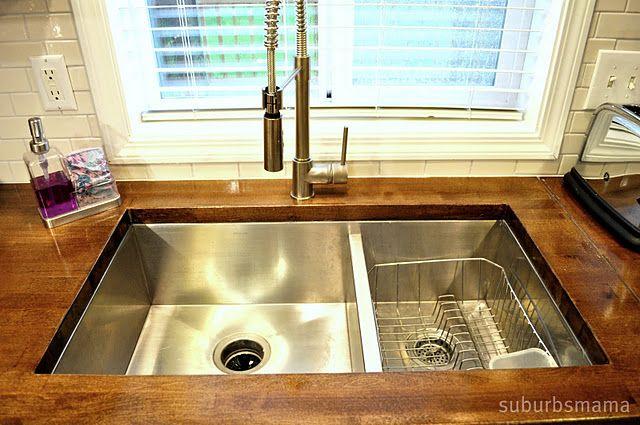 wooden countertops kitchen