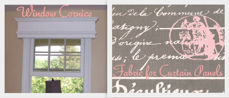 Window cornice & fabric