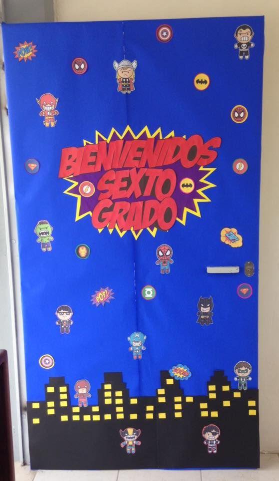 Puerta de bienvenidos al grupo escuela clase de 1 for Puertas escolares decoradas