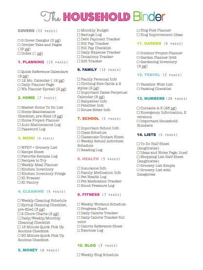 25% OFF Household Binder Printable Planner by CleanLifeandHome