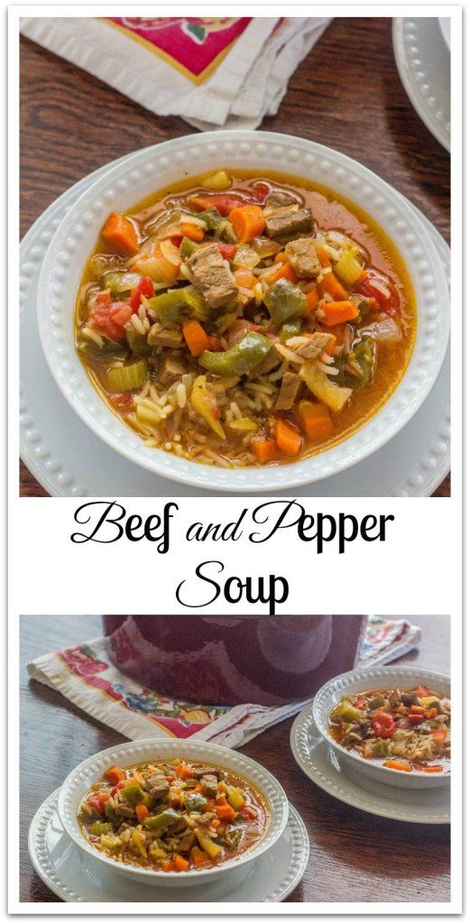 Beef And Pepper Soup Syrup And Biscuits Recipe Stuffed Peppers Leftover Roast Beef Recipes Stuffed Pepper Soup
