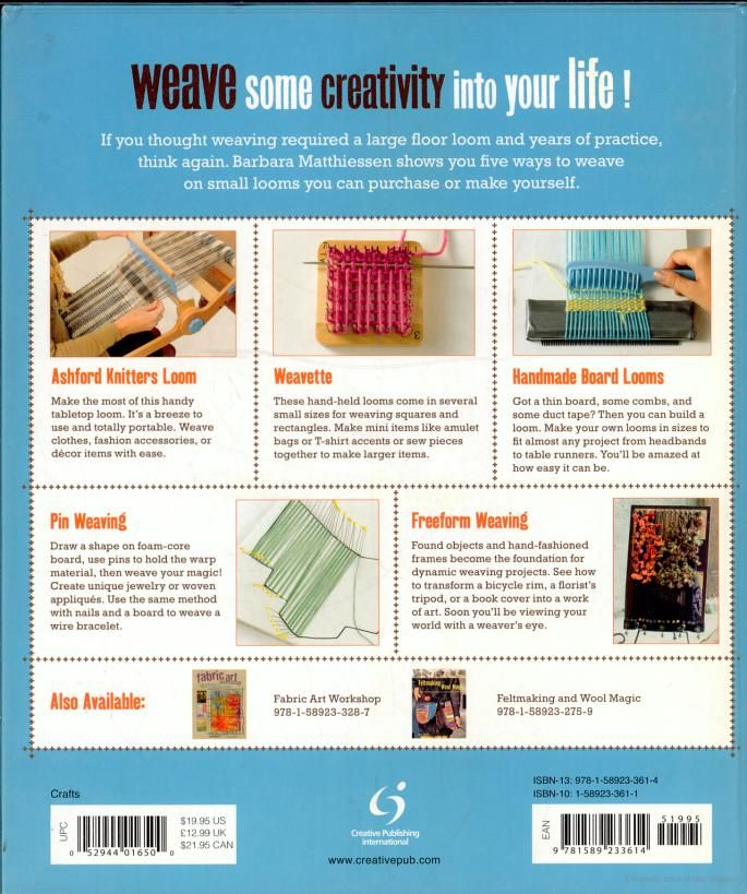 Small loom and freeform weaving: five ways to weave - Barbara Matthiessen - Google Livres
