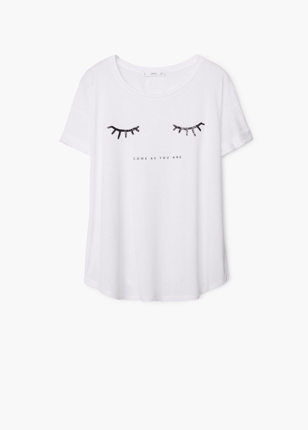 fd362c2fe Glitter print t-shirt - Women in 2019 | Pants | T shirt, Shirts ...
