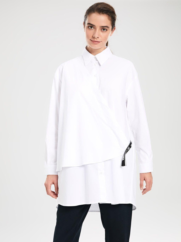 Beyaz Kruvaze Yaka Detayli Tunik Sadece 49 99 Tl Kadin 73 Pamuk 23 Polyester 4 Elastan Lc Waikiki De Hemen Satin Al 2020 Tunik Pamuk Kadin