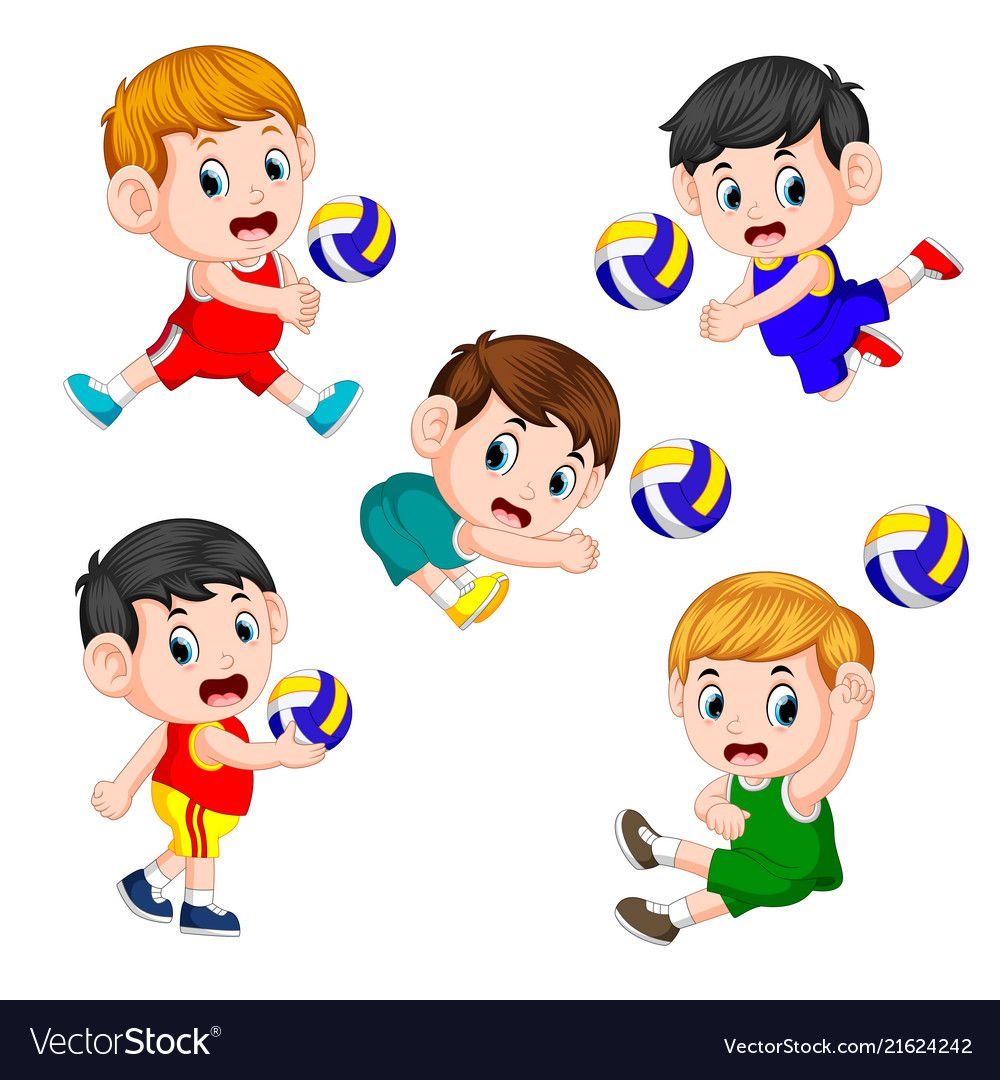 The Various Positions Of The Volleyball Player Vector Image On Vectorstock Vector Images Volleyball Players Vector Free