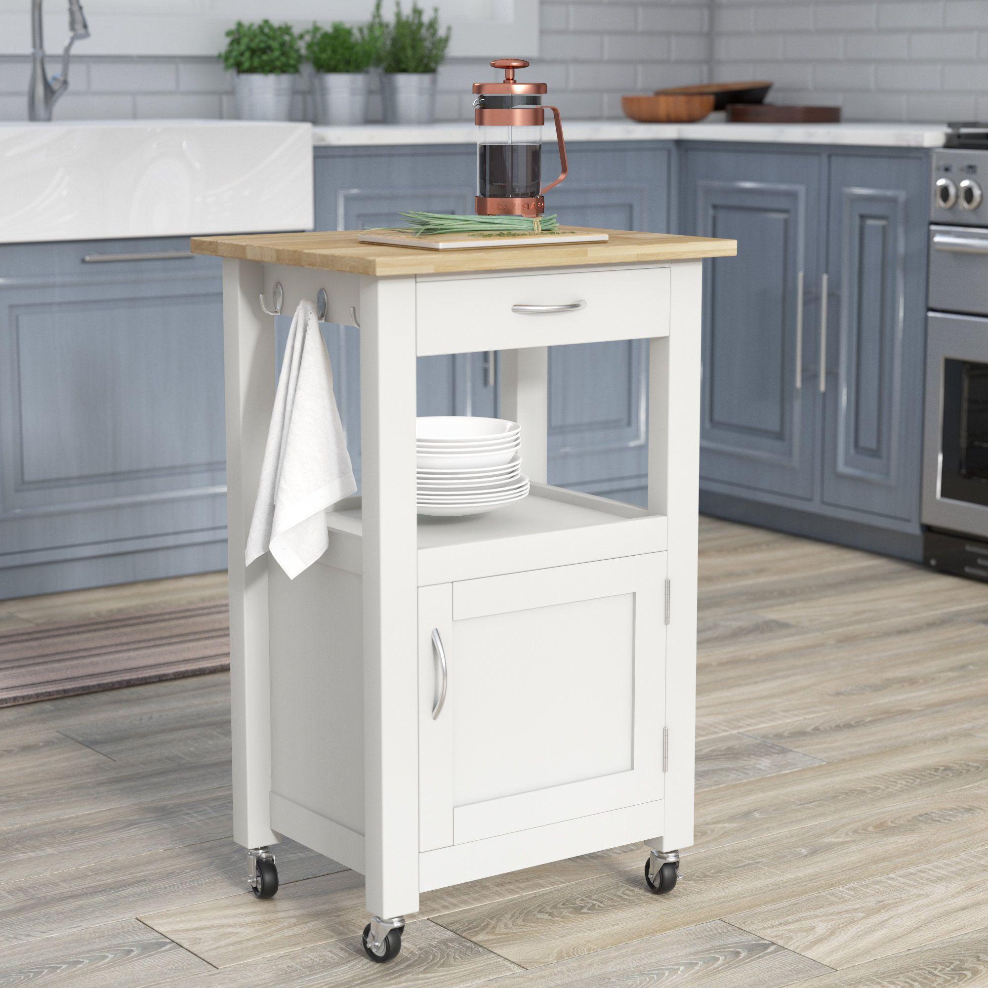 Kitchen Island Cart Charlton Home Turcios Kitchen Island Cart With