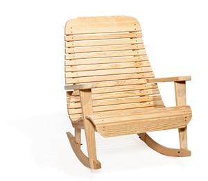 Amish Pine Wood Extra Wide Easy Porch Rocking Chair Rocking