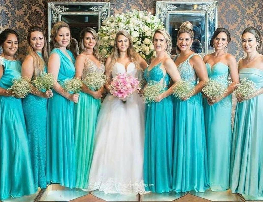 123bfbb33 Madrinhas de Tiffany! Lindas! . #universodasnoivas #noiva #weddings  #wedding #weddingday #weddingdress #casamento #casamentos #vestido #vestidos  #madrinha ...