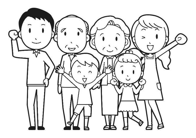 Dibujo Para Colorear Familia Familia Para Dibujar Imagenes De Familia Familia Ilustracion