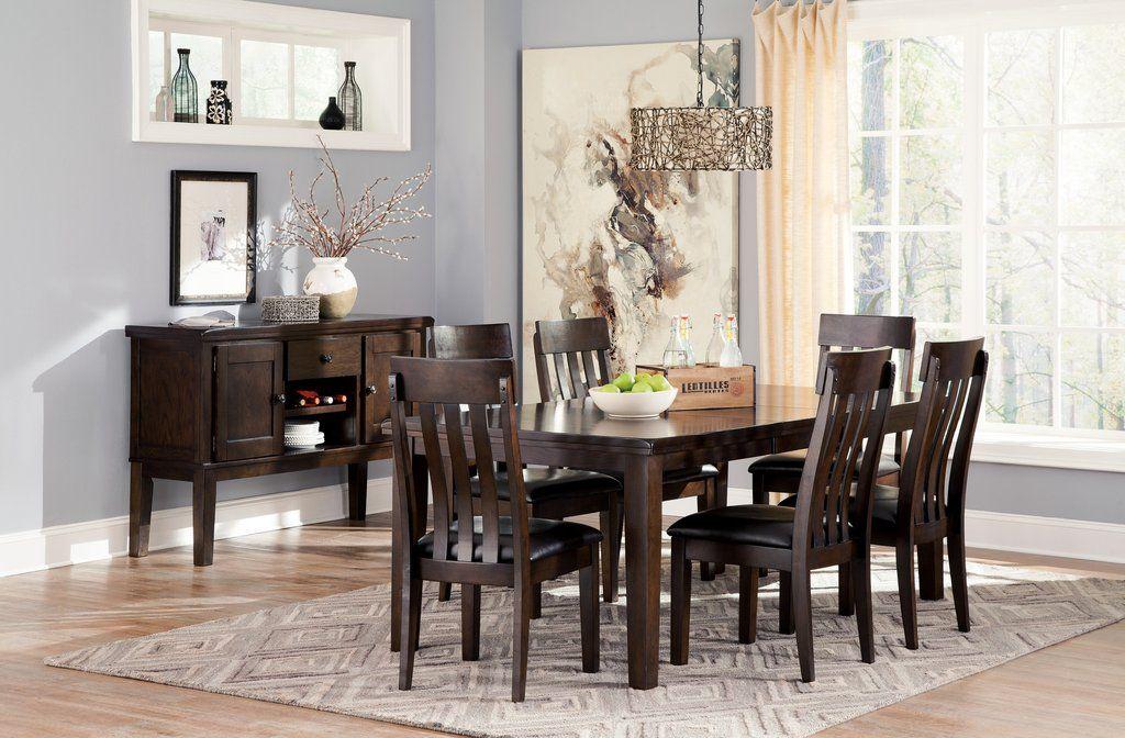 Handigan Casual Dark Brown Color Dining Room Set Rectangular Extraordinary Casual Dining Room Sets Decorating Inspiration