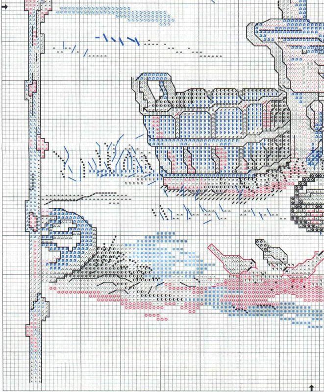Схема вышивки Feeding the Birds (Bucilla) 3 из 4   Схемы ...