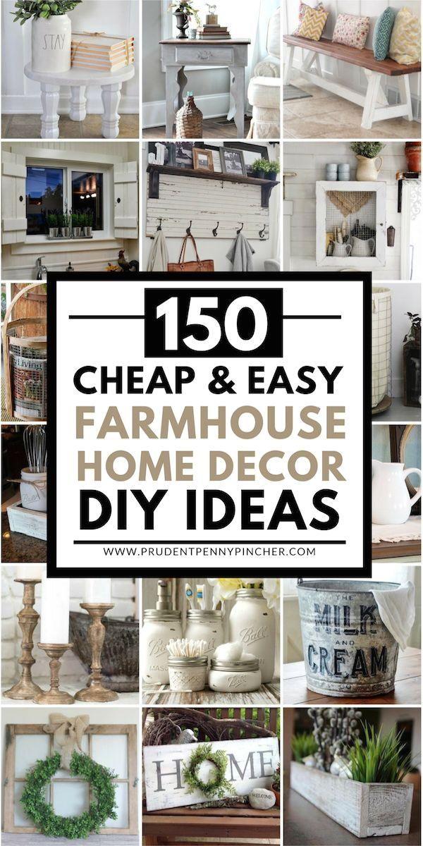 #farmhouse  #diy  #homedecor  #farmhousedecor #Easy #Farmhouse 150 Cheap and Easy Farmhouse Decor DIY Ideas