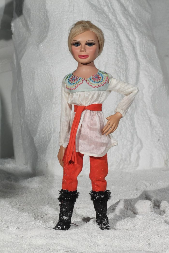 Lady Penelope models one of her new TB65 outfits.
