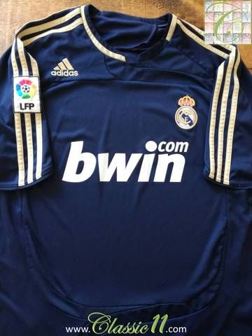 f46459a7a11 Official Adidas Real Madrid away football shirt from the 2007 2008 season.