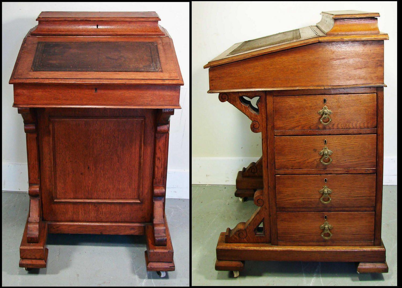 english slant front desk completed furniture desks secretaries | desk  victorian eastlake style 2 pieces circa - 7 Best Captains Desk Images On Pinterest Antique Desk, Cabinets