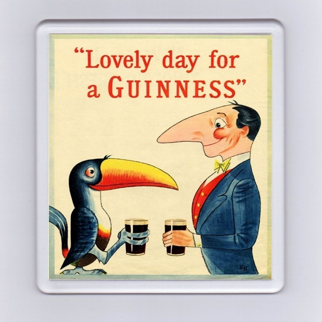 Vintage Guinness Advert Drink Coaster - \