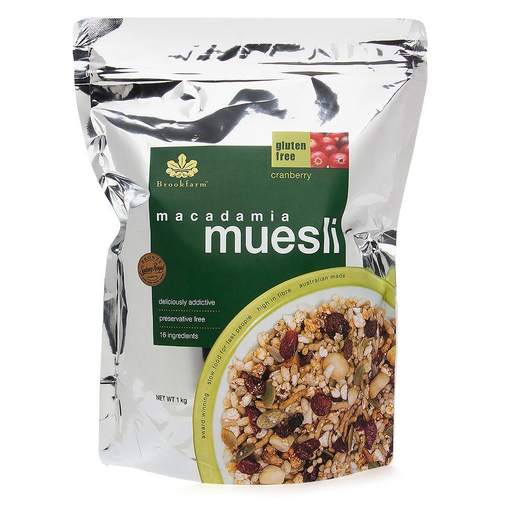 Brookfarm Gluten Free Macadamia Cranberry Muesli 1kg