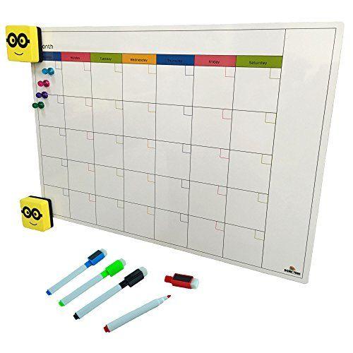 Magnetic Monthly Calendar And Planner Set For Refrigerator White Dry Erase Board For Fridge Large 12x17 W Dry Erase Board Dry Erase Calendar Monthly Planner
