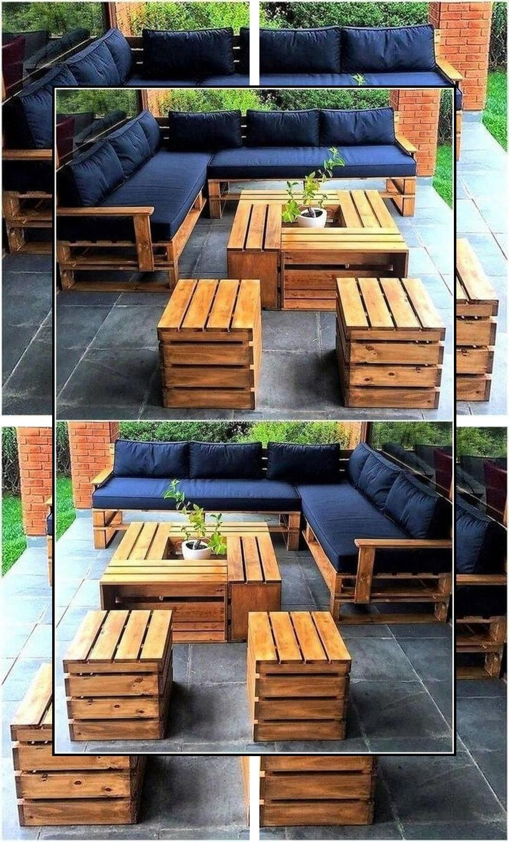 Lawn Furniture Made From Pallets Crate And Pallet Furniture How To Make Pallet Furn In 2020 Pallet Patio Furniture Pallet Garden Furniture Pallet Furniture Outdoor