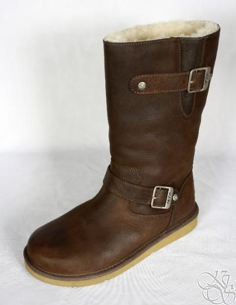 82f3860a8fd UGG Australia Kensington Toasted Brown Leather Womens Winter Boots ...