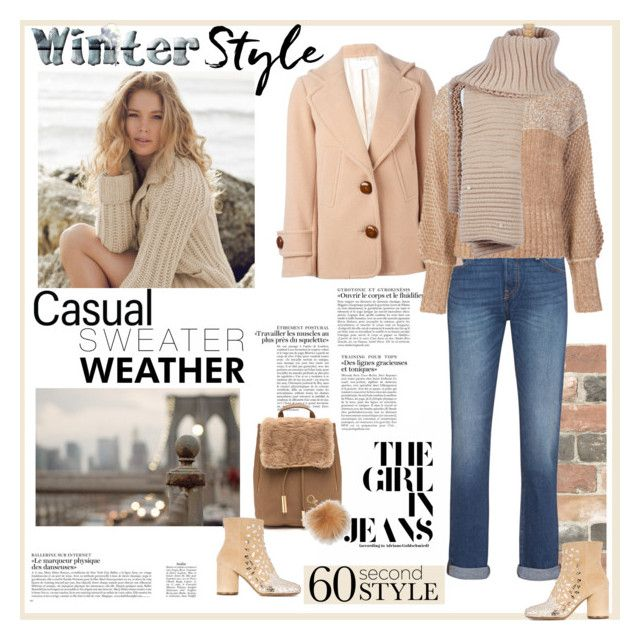 """""""Casual Sweater Weather"""" by ellie366 ❤ liked on Polyvore featuring Wall Pops!, Repeat Cashmere, Levi's, See by Chloé, Rachel Comey, Maison Margiela, MICHAEL Michael Kors, casual, neutrals and cashmere"""