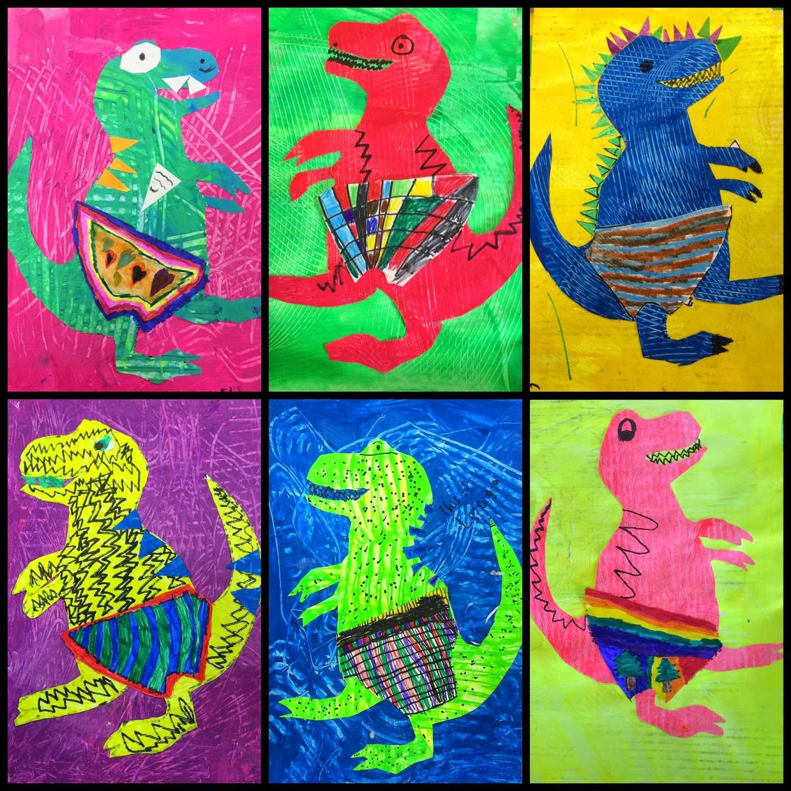 Dinosaurs Love Underpants 1st Grade Exploring Art