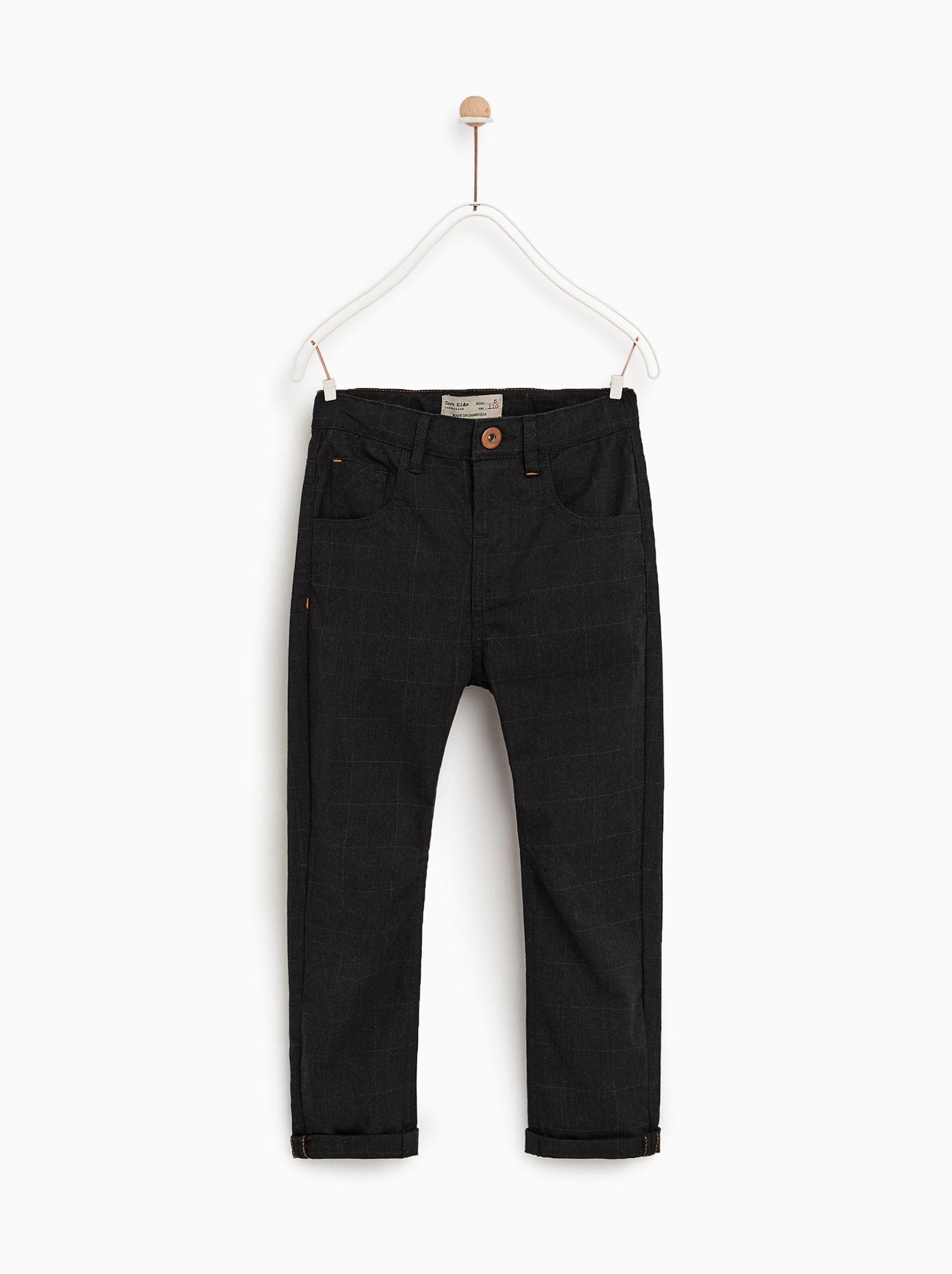 233b7f803 Image 1 of CHECK JEANS WITH POCKETS from Zara | The twins/ Max and ...