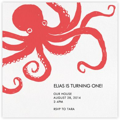 octopus birthday e invites octopus birthday ideas pinterest