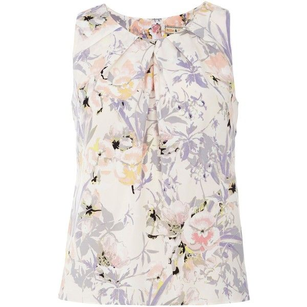 Dorothy Perkins Billie and Blossom Floral Shell Top ($19) ❤ liked on Polyvore featuring tops, sale, flower top, dorothy perkins, floral print top, flower print tops and floral top