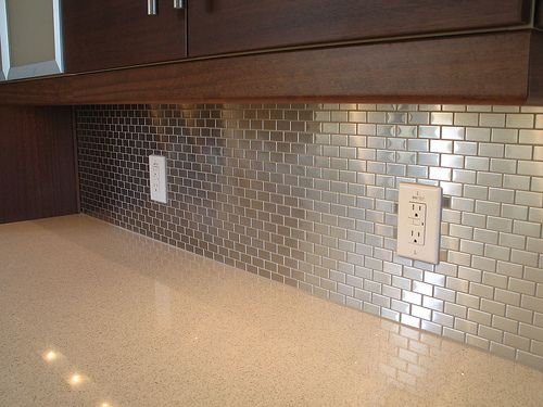 Stainless Steel Tile Backsplash Found At Lowe S