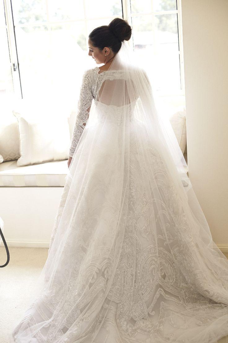 Ball Gown Wedding Dresses : J\'Aton wedding dress and beautiful bride ...