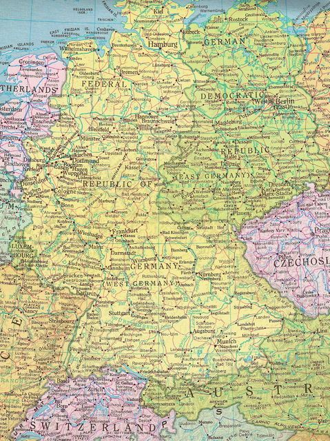 Map Of North West Germany.Former East Germany And West Germany Genealogy East Germany