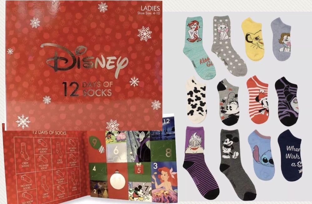 Disney Twelve 12 Days Of Socks Ladies Target Exclusive Sold Out Advent Ebay Christmas Advent Calendar Socks Advent Calendar Christmas Advent