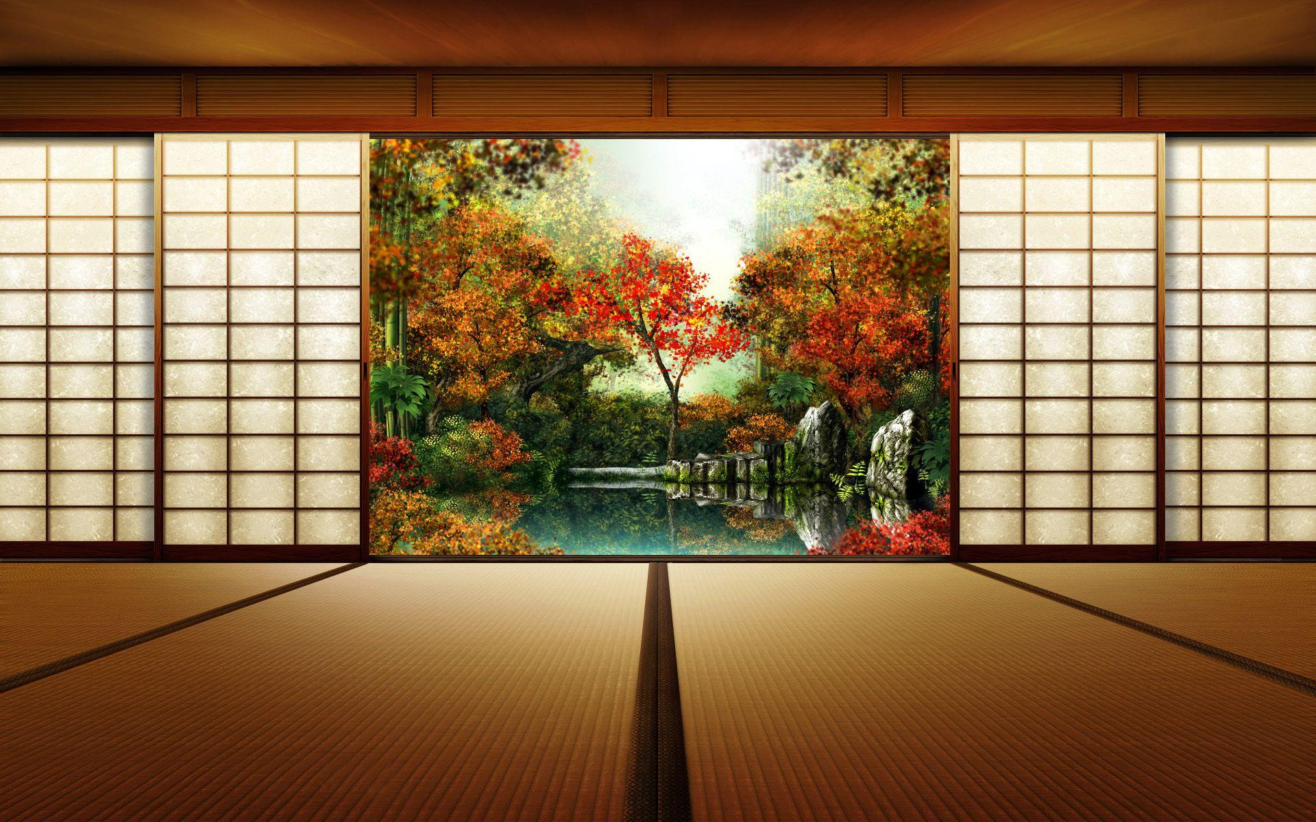 desktop backgrounds a· japanese garden anime