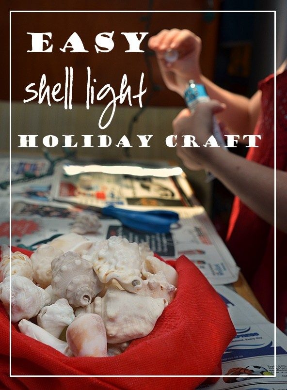 Very easy DIY craft using found shells, a little silicone sealant, and a strand of holiday / fairy lights. Nautical, cute, great for Christmas!