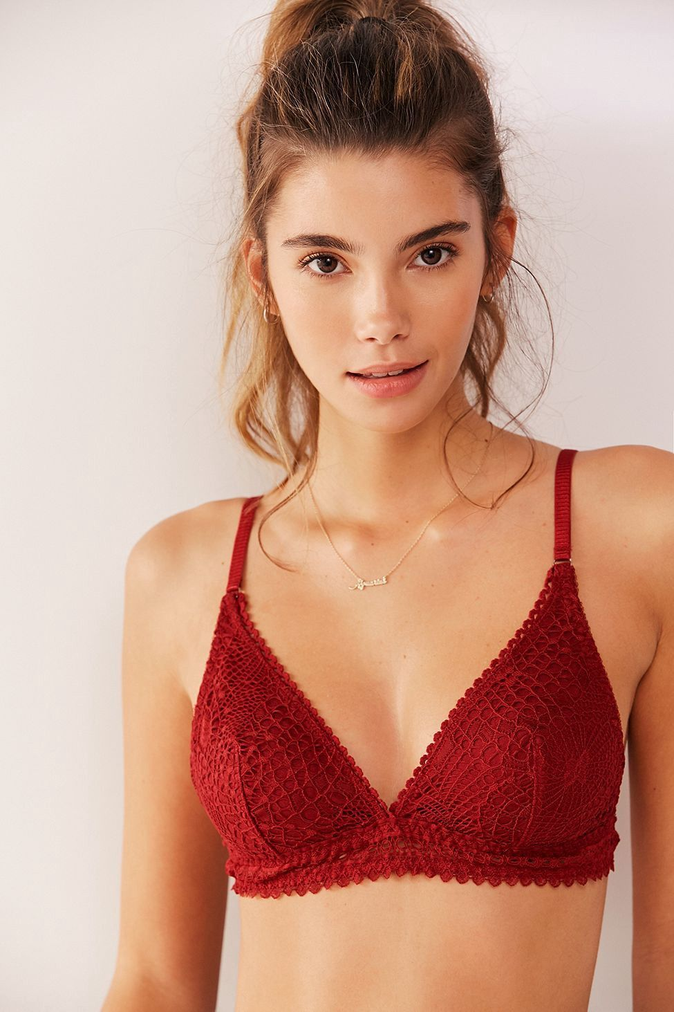 941db1d86 Urban Outfitters Out From Under Lexie Crochet Triangle Bralette - Crimson  Xl  urbanoutfitters