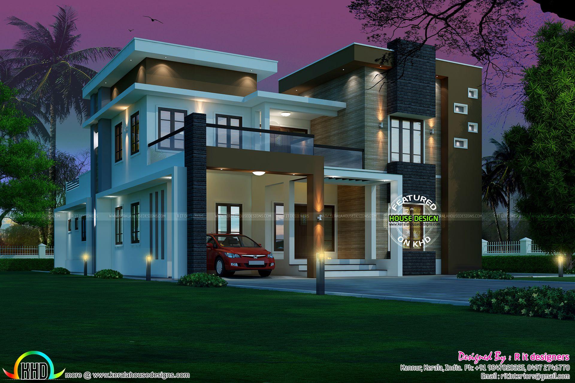 Contemporary 5 Bedroom 3727 Sq Ft Modern Contemporary House Plans Best Modern House Design Kerala House Design