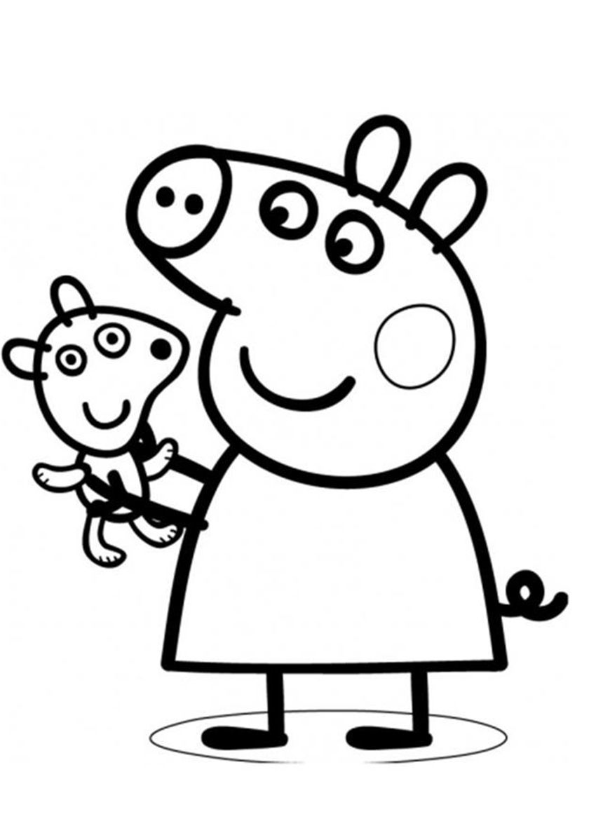 Peppa S Favorite Toy High Quality Free Coloring From The Category Peppa Pig More Print Peppa Pig Coloring Pages Peppa Pig Colouring Birthday Coloring Pages