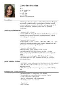 Exemple Cv Infirmier Exemple Cv Cv Infirmier Modele Cv Word
