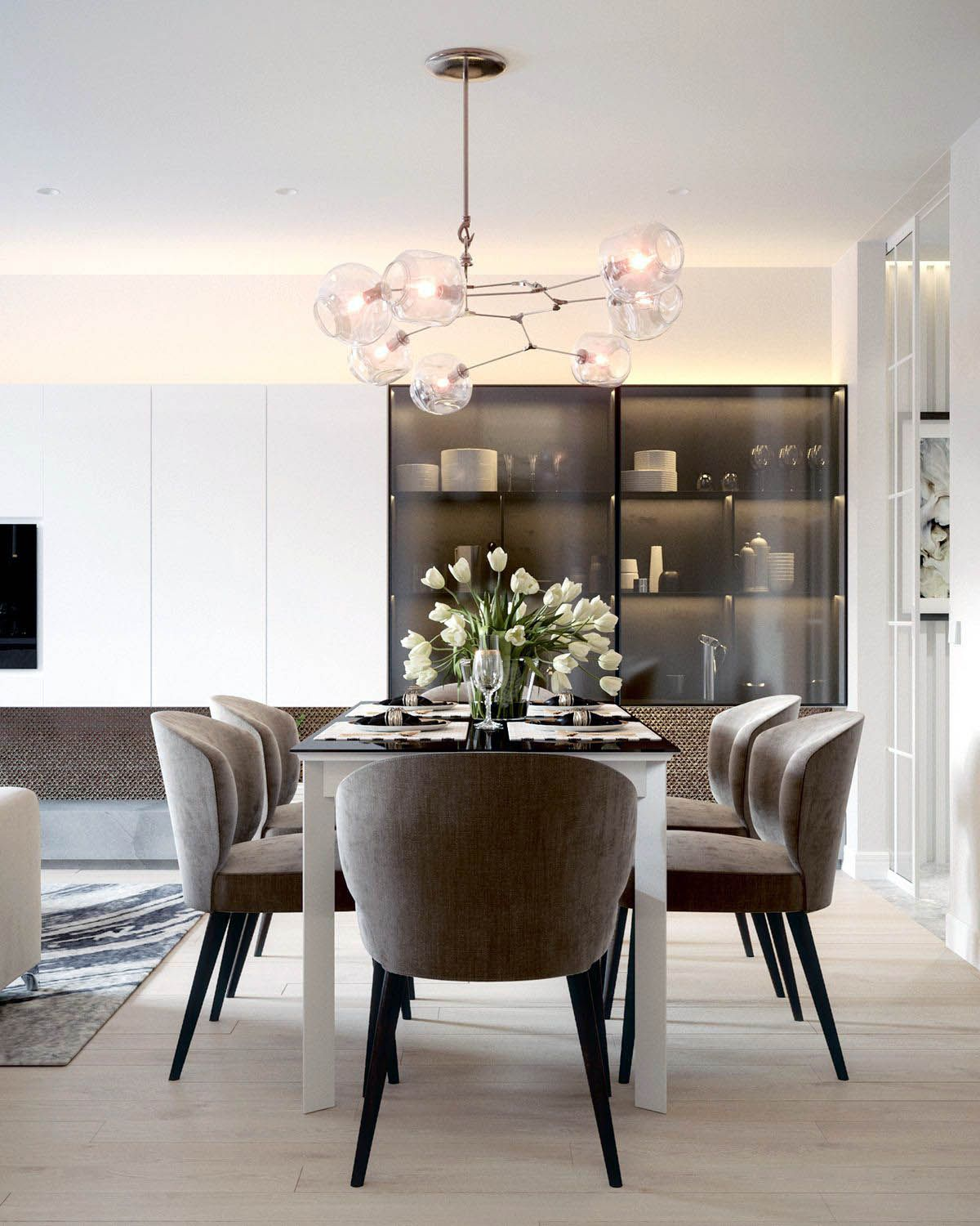 Brilliant Dining Room Standing Lamp That Look Beautiful Dining Room Design Dining Room Contemporary Dining Room Decor