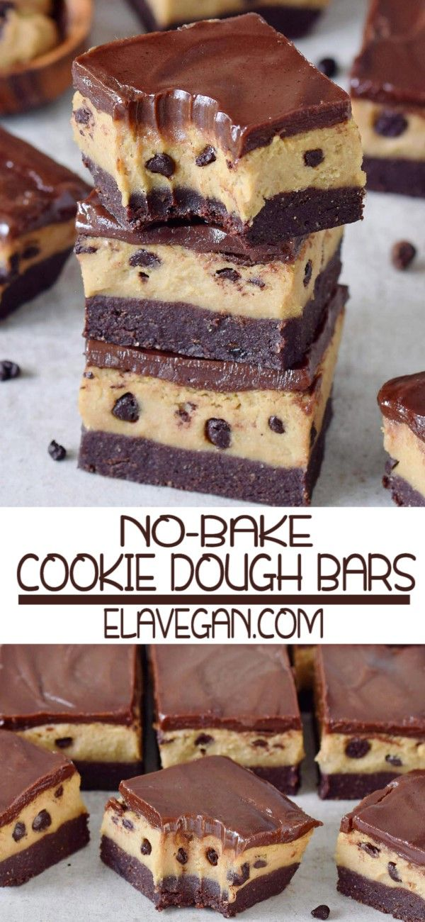 NO-BAKE COOKIE DOUGH BARS