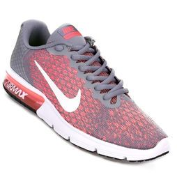 Zapatillas Nike Air Max Sequent 2 Gris+Rosa | Sneakers
