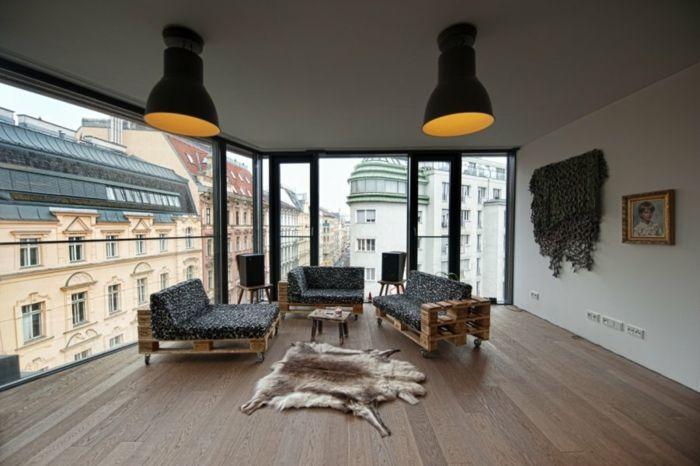 Holzpaletten Diy Möbel Ideen Wohnzimmereinrichtung Sofas