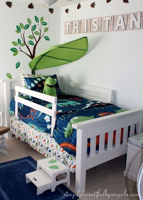 Tristan S Big Boy Dinosaur Room Reveal Diy Toddler Bed Dinosaur