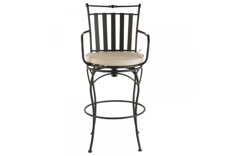 Classico swivel bar chair with cushion mosaic furniture