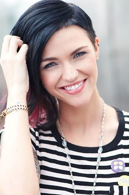Ruby Rose Peinados Ruby Rose Pinterest Ruby Rose Rose And - Undercut hairstyle ruby rose
