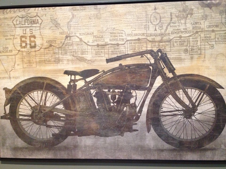 This Cool Motorcycle Wall Art Is A Perfect Piece For Bike Lovers!   Houston  TX   Gallery Furniture  