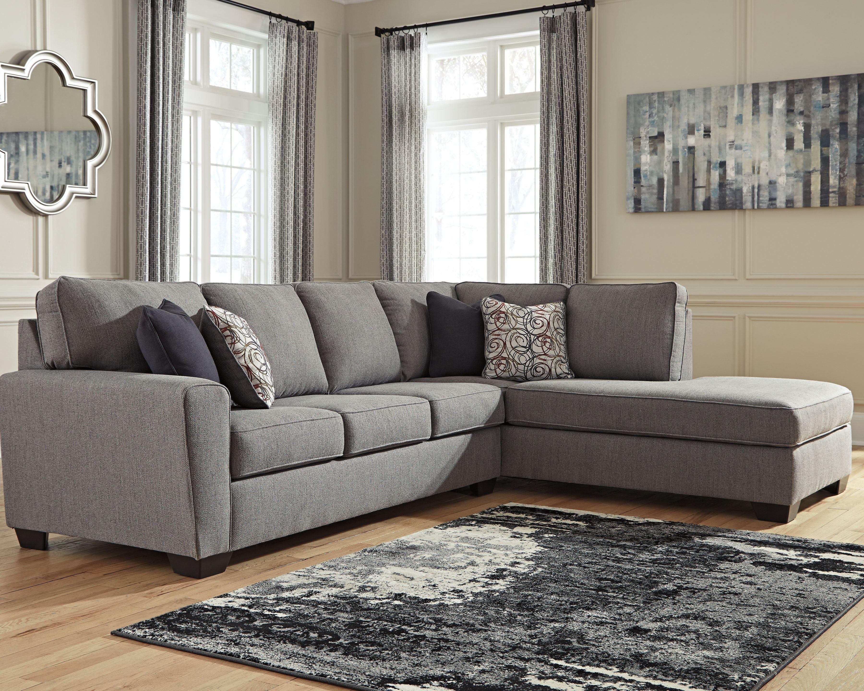 Marvelous Larusi 2 Piece Sectional Iron Grey Sectional Sofa Uwap Interior Chair Design Uwaporg