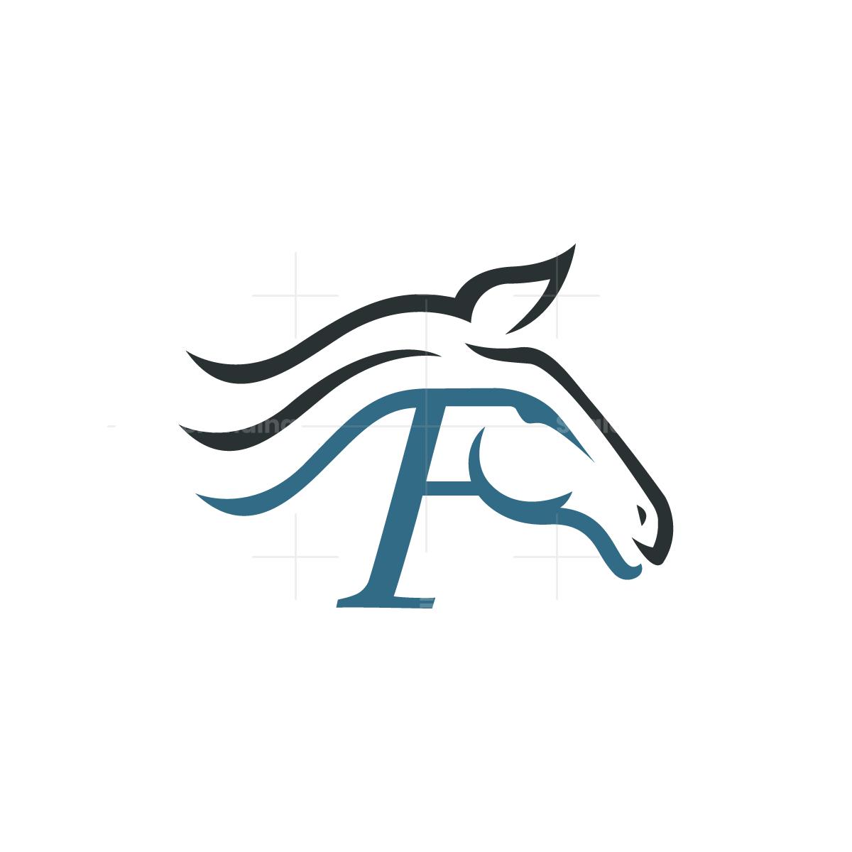 Letter F Horse Logo Horse Logo Design Horse Logo Letter F