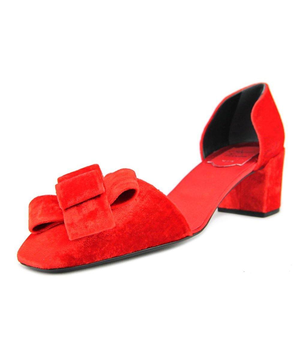 145f1127bdf8 ROGER VIVIER Roger Vivier Quai D Orsay T.45 Women Open Toe Canvas Red  Sandals .  rogervivier  shoes  sandals